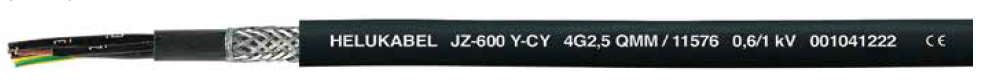 HELUKABEL JZ-600 Y-CY Screened Control Cable, Extensively Oil Resistant, Flame Retardant, UV Resistant - BNR Industrial