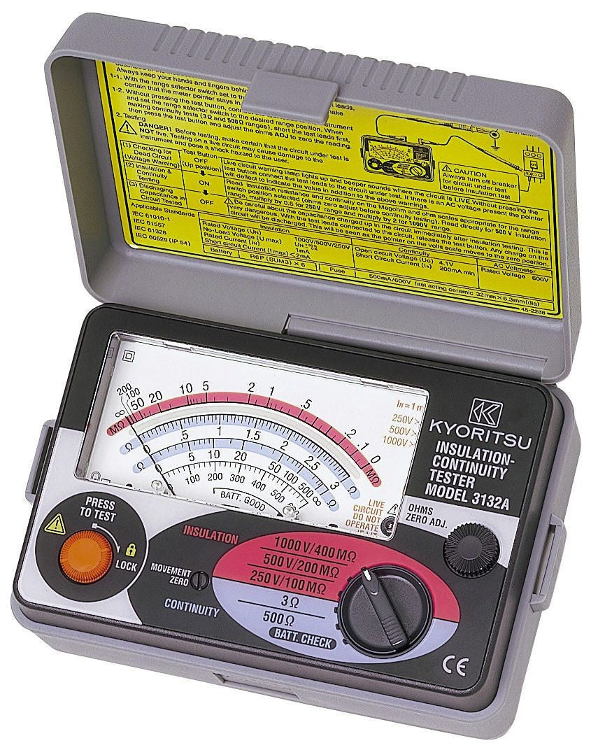 KYORITSU 3132A Insulation Tester Analogue - BNR Industrial