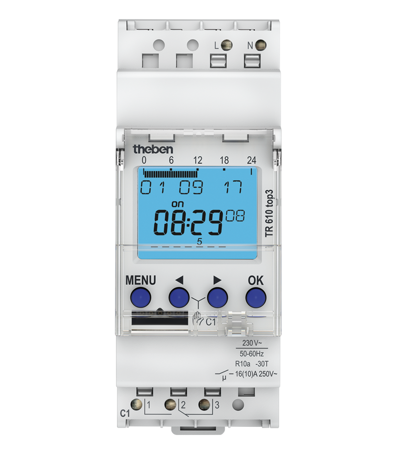 theben theben TR610 top3 Digital time switch with weekly program - 6100130 - BNR Industrial