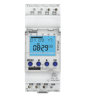 theben TR610 top3 Digital time switch with weekly program - 6100130
