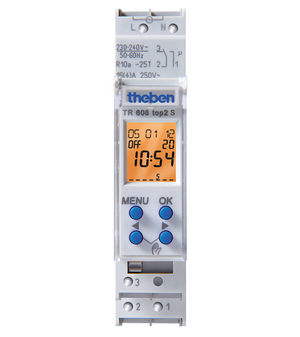 theben TR608 top2 S Digital time switch with weekly program - 6080101