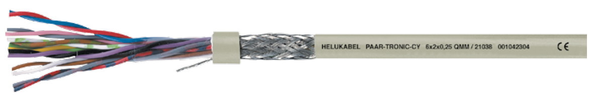 HELUKABEL PAAR-TRONIC-CY Screened Data Cable, EMC-preferred type, Highly Oil Resistant - BNR Industrial