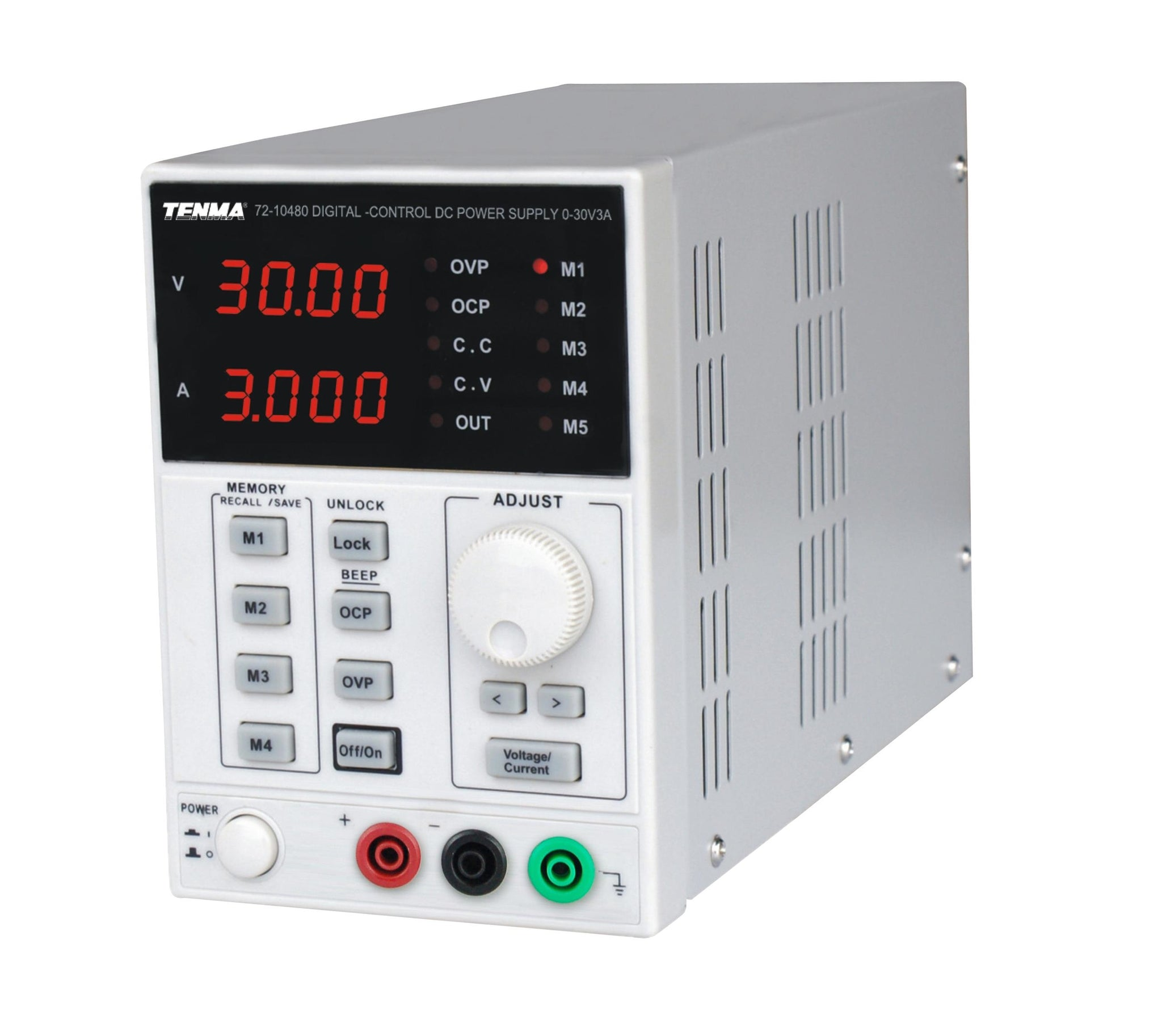 TENMA TENMA 72-10480 Bench Top Power Supply, Linear, Adjustable, 1 Output, 0V-30 V, 0A-3A - BNR Industrial