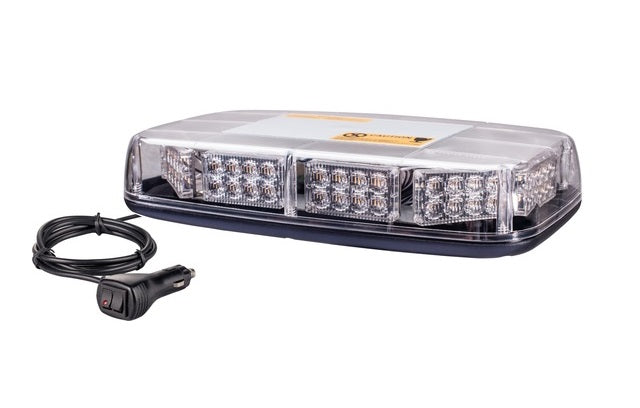 12/24VDC 80 LED Multi-Pattern Vehicle Strobe Light with Magnetic/Permanent Base