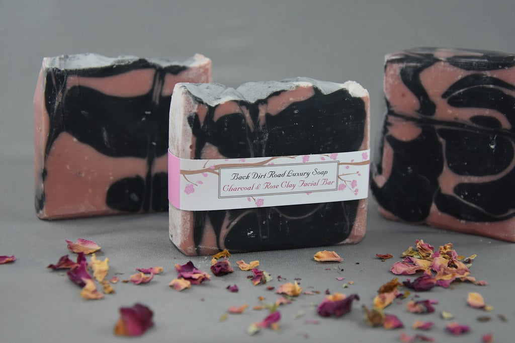 Rose Clay & Charcoal Facial Bar