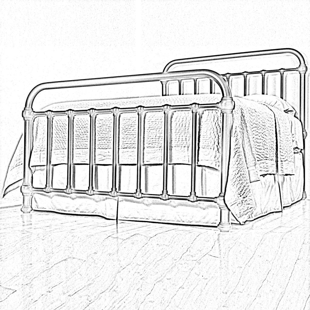 20th Century Americana Iron Bed by HEIRESSY sketch