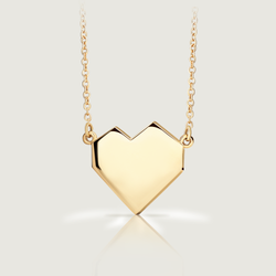 Gold Ararat Heart Necklace