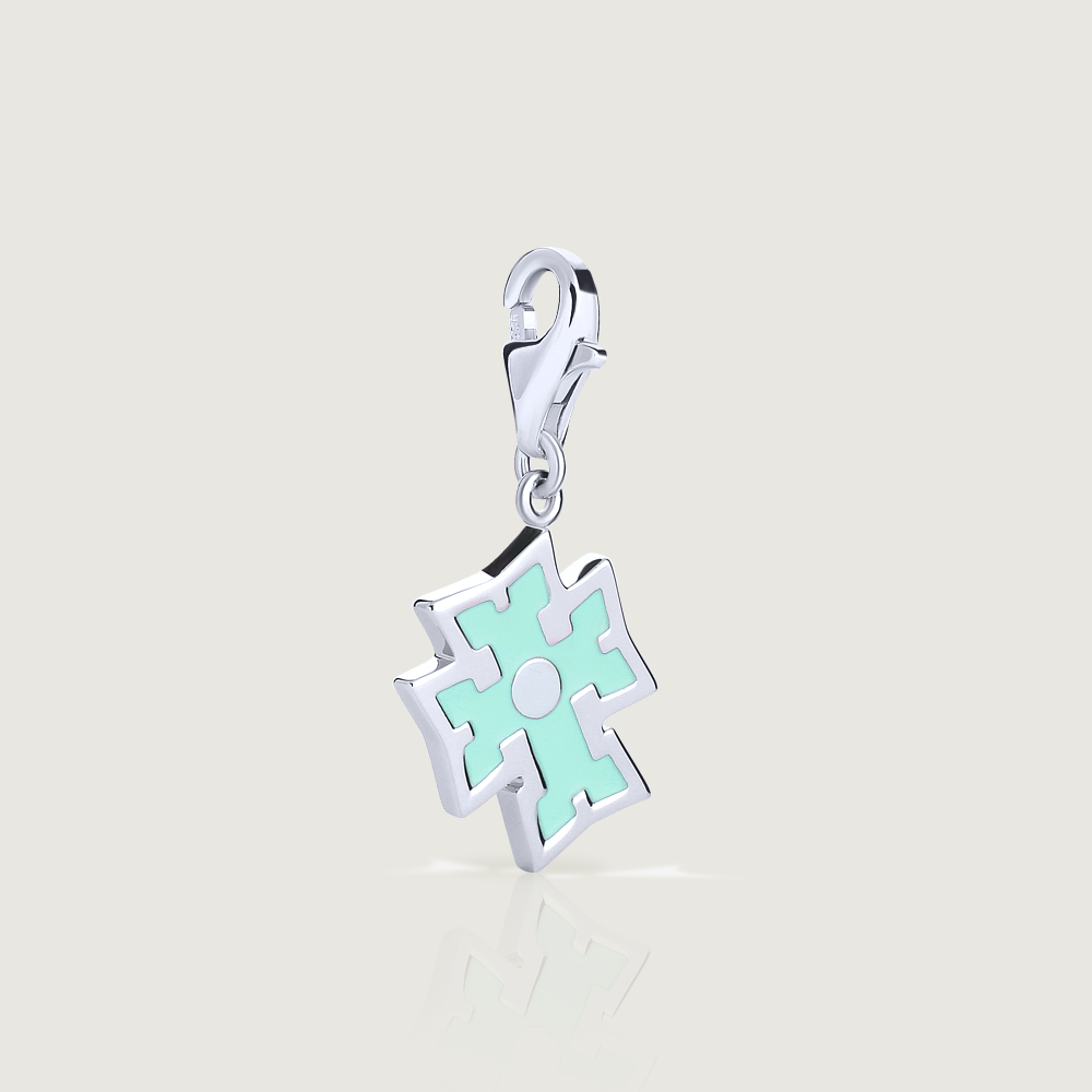 Turquoise Cross Charm - Preorder