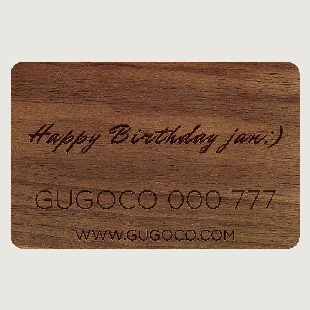 Engraved Armenian Gift Card