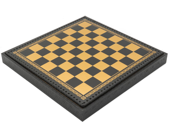The Deluxe Italian Nero Chess Cabinet With Removable Lid and Draughts- 13.75 Inch