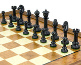 Northern Upright Ebony and Rootwood Traditional Chess Set