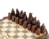 Travel Sized Isle Of Lewis  Celtic Chess Set 9 Inches
