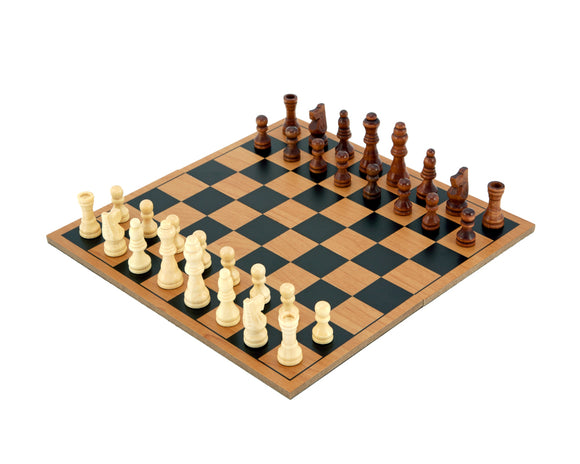 Wooden Folding Travel Chess Set