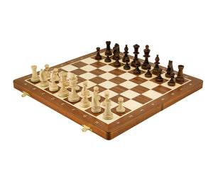 Tournament Style Folding Chess Set Large Inspired by Staunton