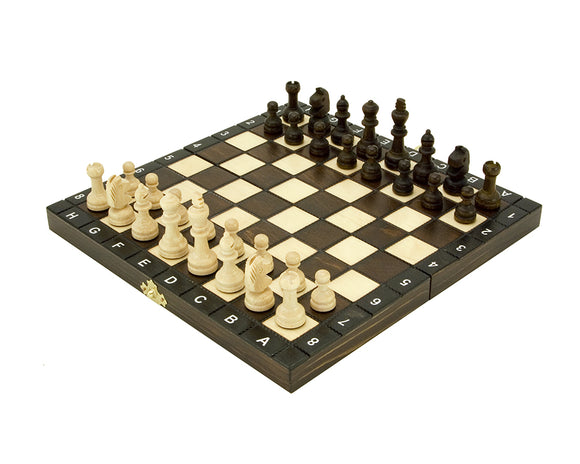 Compact Folding 10.5 Inch European School Chess Set