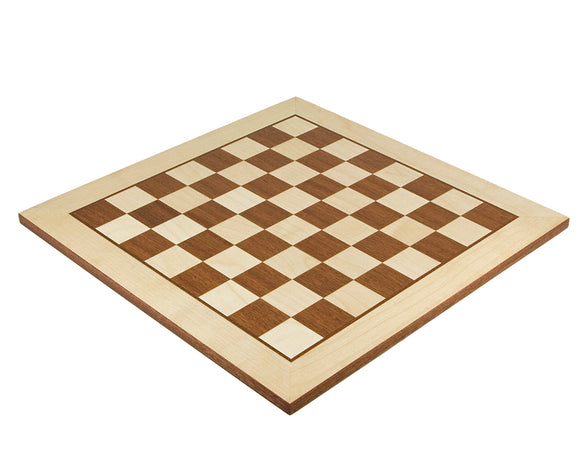 Maple and Mahogany 15.75 Inch Inlaid Chess board