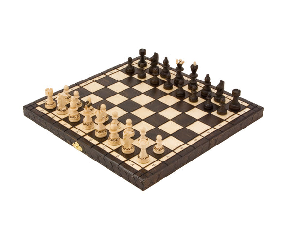 Pearl Folding Chess Set 14 Inch