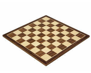 12.5 Inch Walnut and Maple Chess Board