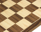 Walnut and Maple 17.75 Inch Chess Board