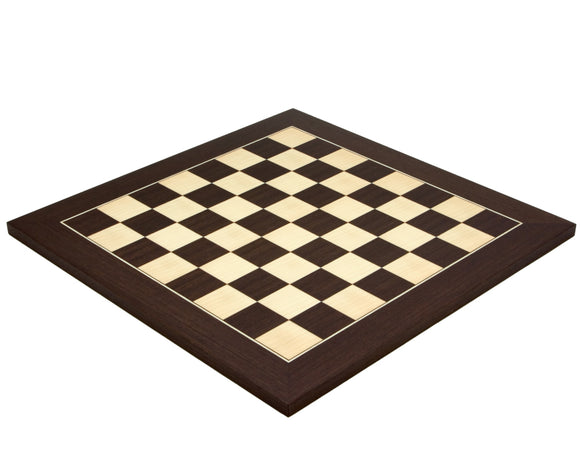 Deluxe Wenge and Maple 15.75 Inch  Chess Board