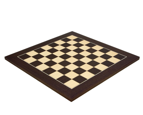 Wenge and Maple Deluxe 17.75 Inch Chess Board