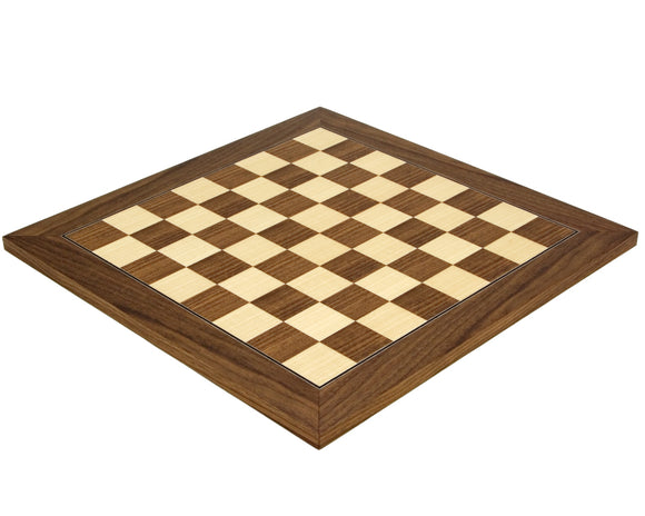 Walnut and Maple Deluxe 15.75 Inch Chess Board