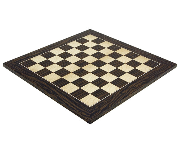 Tiger Ebony and Maple 17.75 Inch Deluxe Chess Board