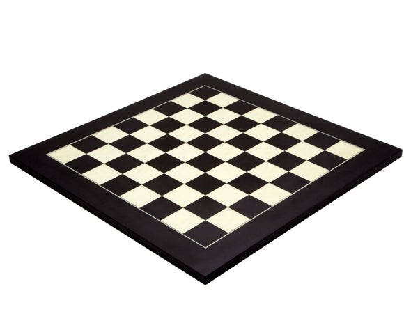 Black and Maple 17.75 Inch Deluxe Chess Board