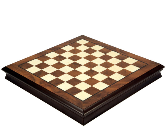 Walnut and Maple 17 Inch Chess Cabinet with Removable Lid