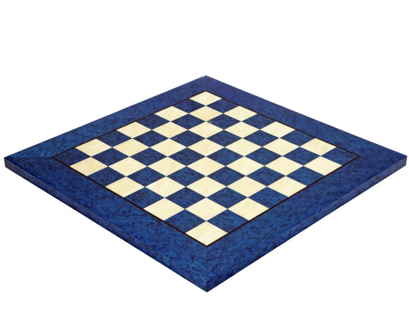 Blue Erable and Elm 16.5 Inch Wood Luxury Chess Board