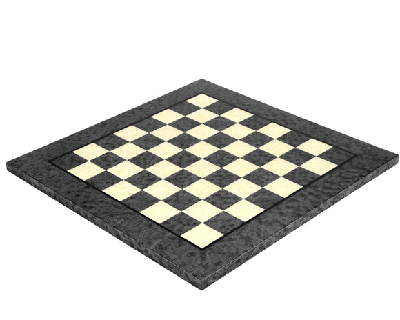 Dark Grey Erable and Elm 16.75 Inch Wood Luxury Chess Board