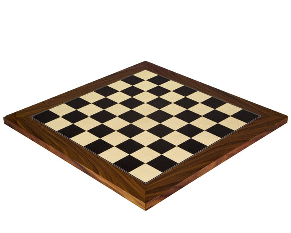 Black Anegre and Palisander 17.75 Inch Deluxe Chess Board