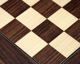 Montgoy Palisander and Maple 17.75 Inch Deluxe Chess Board