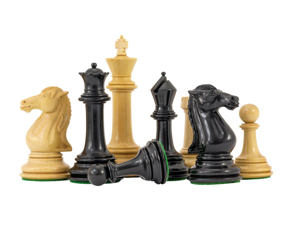 Parthenon Series Ebony and Boxwood Chess Pieces