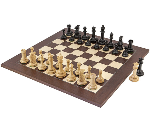 Parthenon Rosewood and Ebony Chess Set