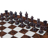 The Luxury Staunton Garvi Rosewood and Walnut Grand Chess Set