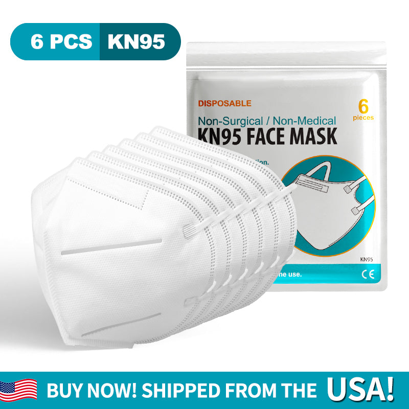1 PACK(6 PCS) DISPOSABLE KN95 Face Mask - Fast And Free Shipping Within 3-5 Days- Shipped From Our USA Warehouse!