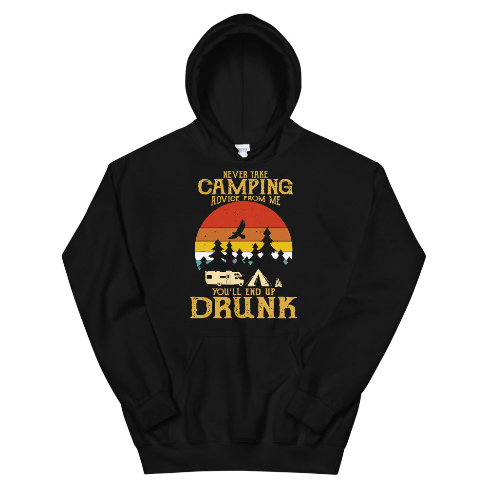 Never Take Camping Advice From Me Hoodie (Unisex)