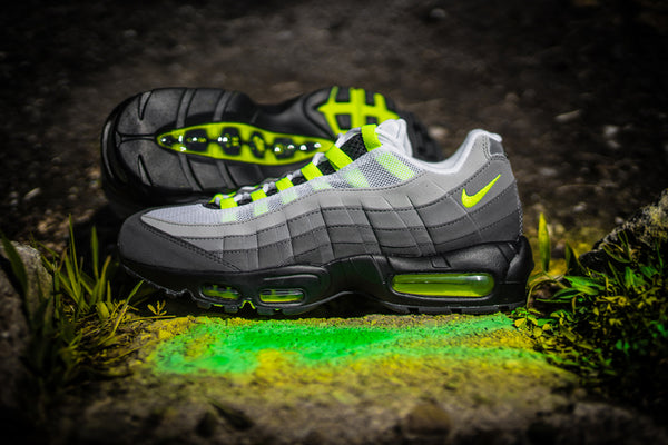 """the best attitude 9e915 bef78 Nike Sportswear is set to resurrect the """"Neon"""" colorway of the Air Max 95  in celebration of its 20th birthday. Complete with an OG build, the design  sees ..."""