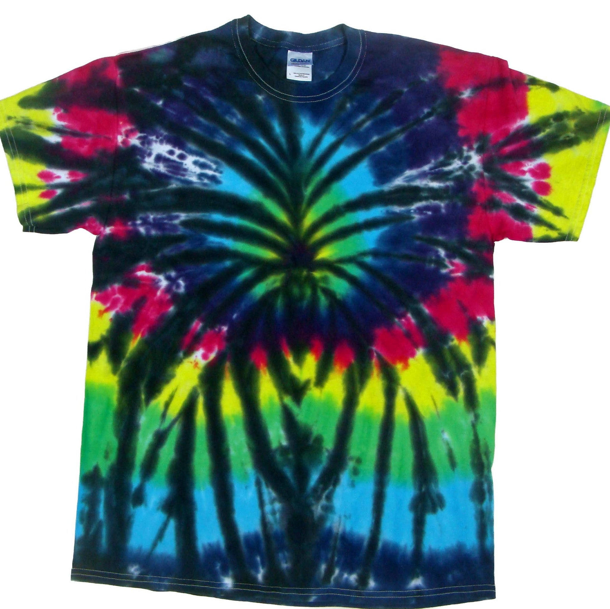 Rainbow spider blue mountain tie dye for Types of tie dye shirts
