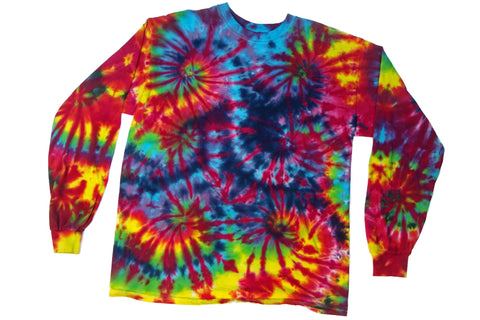 Long Sleeve Tie Dye Burning Man T-Shirt