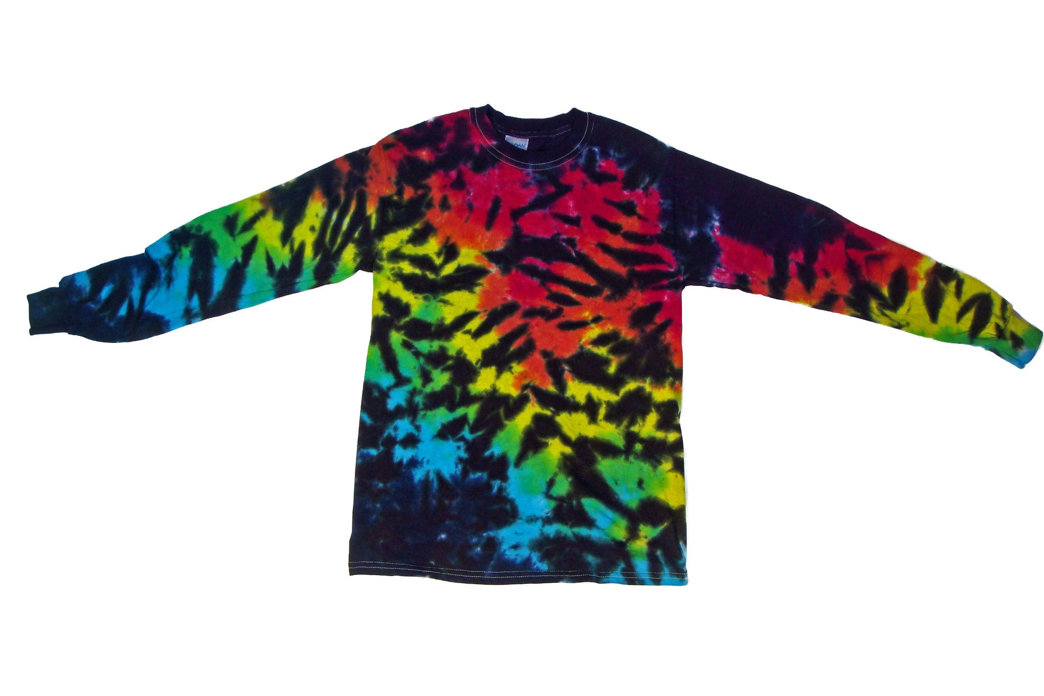 Long Sleeve Tie Dye Rainbow Tiger