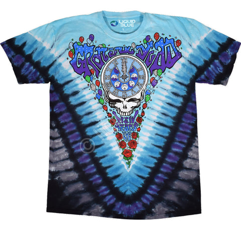 New Years Midnight Hour -  2 Sided Tie Dye T-Shirt, Sizes M-2XL