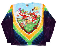 Grateful Dead BiPlane Long Sleeve Tie Dye T Shirt