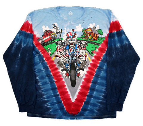 Grateful Dead - Moto Sam - Long Sleeve Tie Dye T Shirt
