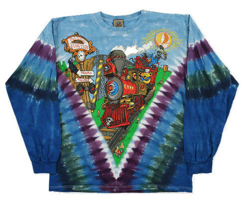 Grateful Dead - Casey Jones - Long Sleeve Tie Dye T Shirt
