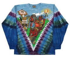 Grateful Dead Casey Jones Long Sleeve Tie Dye Shirt