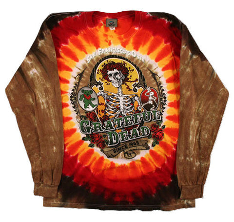 Grateful Dead - Bay Area Beloved - Long Sleeve Tie Dye T Shirt