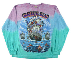 Grateful Dead Ship Of Fools Long Sleeve Tie Dye T Shirt