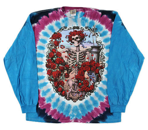 Grateful Dead - Bertha-30 Years - Long Sleeve Tie Dye T Shirt